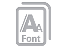 Benchmark template - Icon fonts